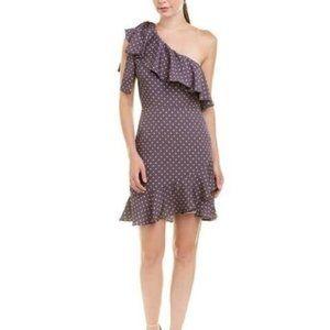 NWT J.O.A. Extended Sleeve Polka Dot Dress